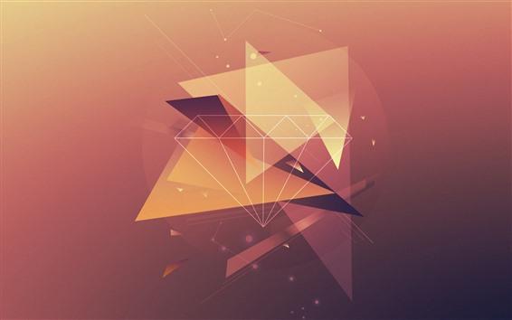 Papéis de Parede Diamante, linhas, design criativo