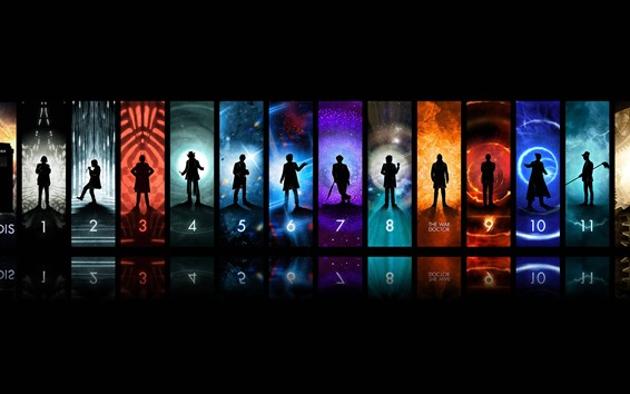 Wallpaper Doctor Who, TV series, creative picture