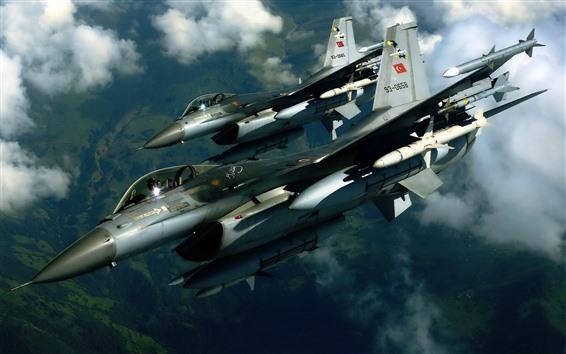 Wallpaper F16 jet fighter