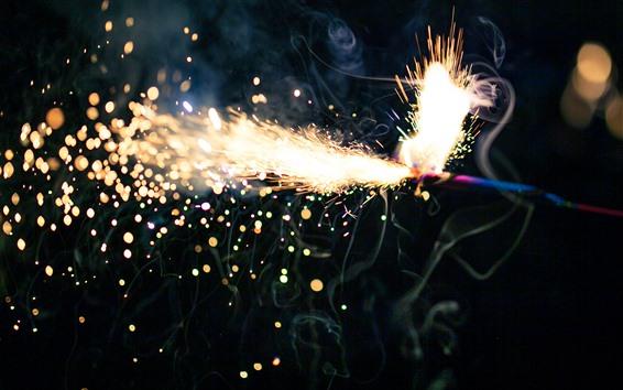 Wallpaper Fireworks, sparks, glare
