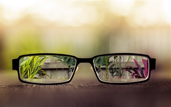 Wallpaper Glasses, clear vision