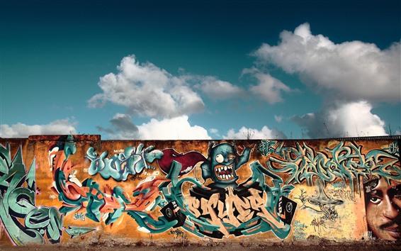 Fond d'écran Graffiti, mur, coloré