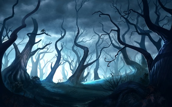 Wallpaper Magic forest, art picture