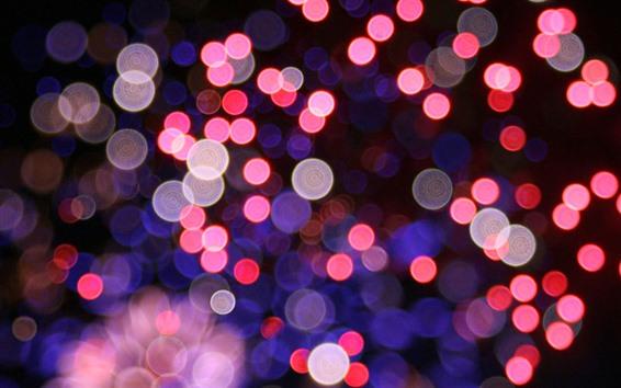 Обои Много светлых кругов, розовый стиль, ночь