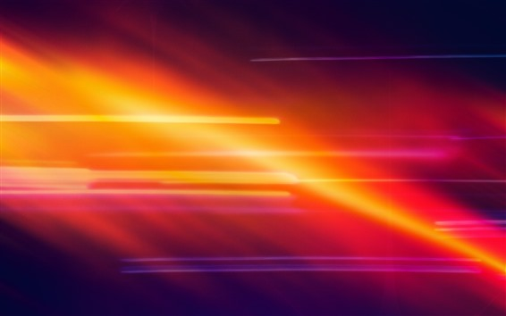 Wallpaper Orange and red light, abstract picture