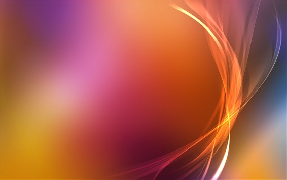 Wallpaper Orange curves, abstract
