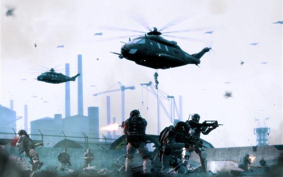 Papéis de Parede Jogo para PC, soldado, helicópteros, guerra