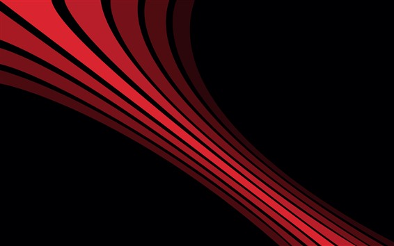 Wallpaper Red lines, black background, abstract