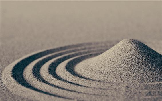 Wallpaper Sand, circles
