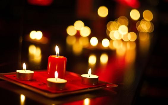 Обои Некоторые свечи, огонь, пламя, легкие круги