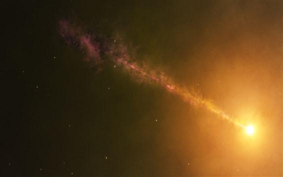 Wallpaper Sun, space, hazy, glare, infinite universe