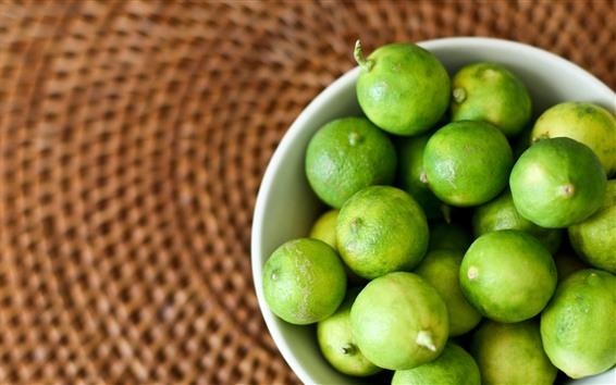 Wallpaper A bowl of green lemon
