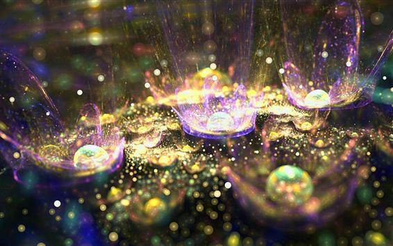 桌布 抽象花,光芒,飛濺