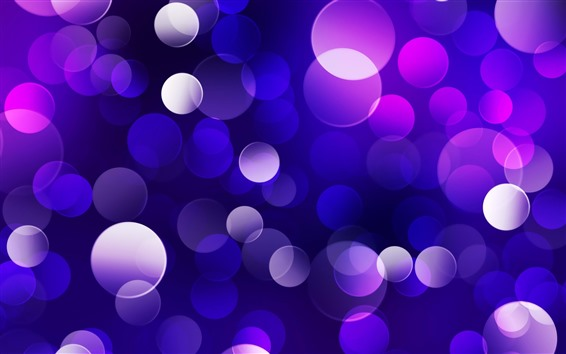 Wallpaper Blue and purple light circles, abstract