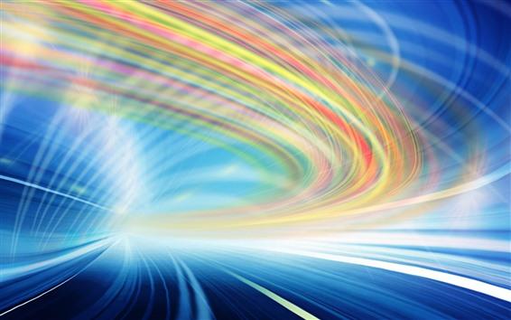Fondos de pantalla Curvas de colores, líneas de luz, imagen abstracta