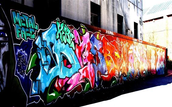 Hintergrundbilder Bunte Graffiti, Straße, Stadt
