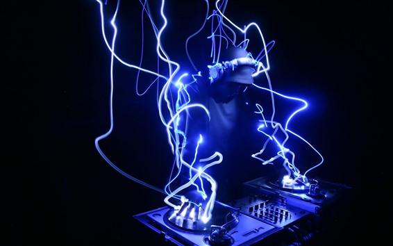 Wallpaper DJ, neon, creative picture