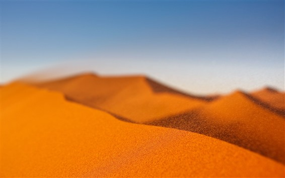 Wallpaper Desert, sand, wind