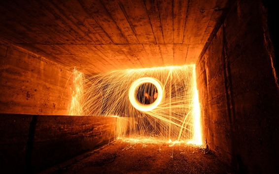 Wallpaper Fireworks, sparks, bright, beautiful