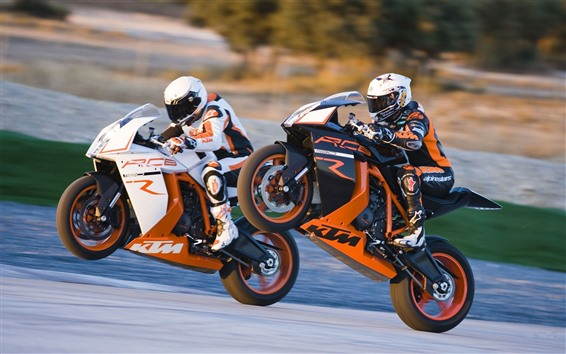 Wallpaper KTM motorcycles, race
