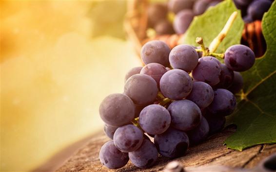Wallpaper Purple grapes, hazy