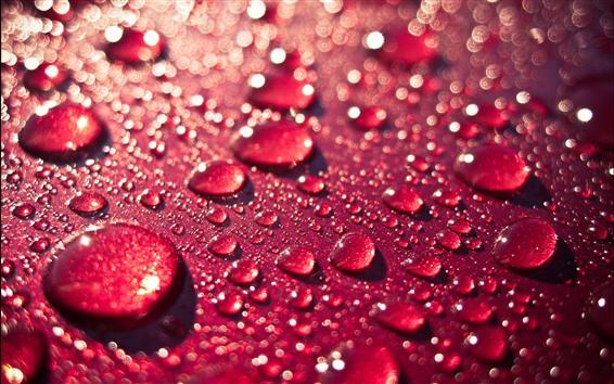 Fondos de pantalla Fondo rojo, gota de agua