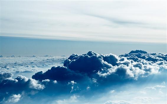 壁紙 空、上面図、厚い雲