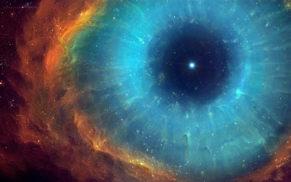 Wallpaper Space, eye, nebula, stars