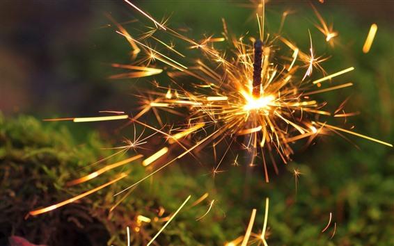 Wallpaper Sparkler, sparks, shine