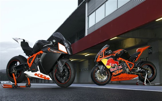 Wallpaper Two KTM motorcycles
