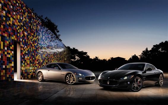 Wallpaper Two Maserati supercars