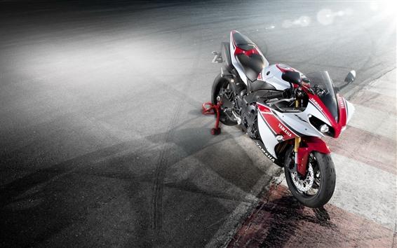 Wallpaper Yamaha motorcycle, light rays