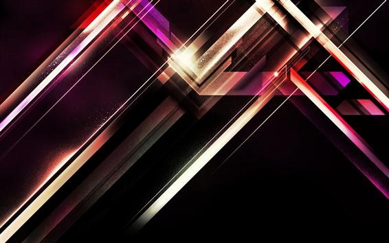 Fondos de pantalla Líneas abstractas, sombra, fondo negro