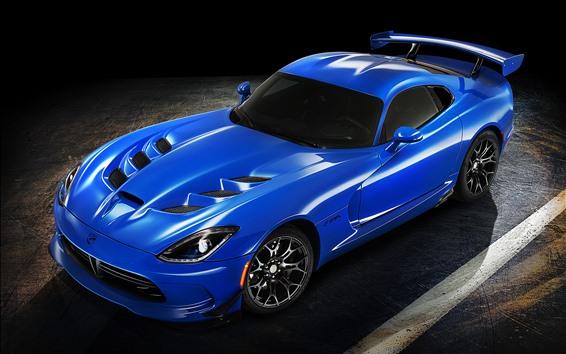 Papéis de Parede Supercarro azul Dodge, sombra