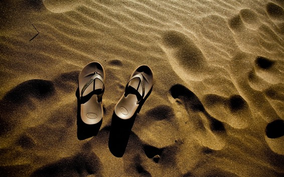 Wallpaper Flip flops, sand, beach
