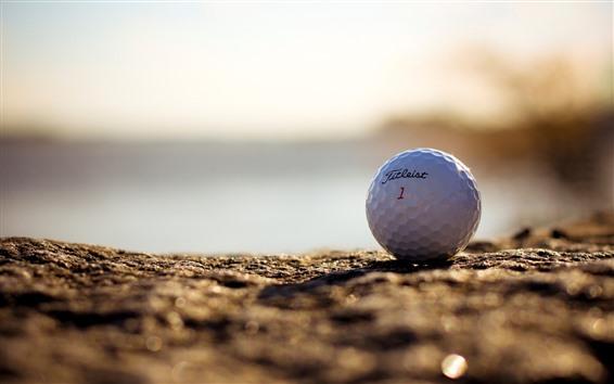 Papéis de Parede Bola de golfe, terreno, nebuloso