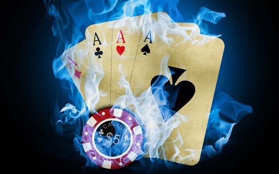 Fondos de pantalla Poker, humo, imagen creativa.