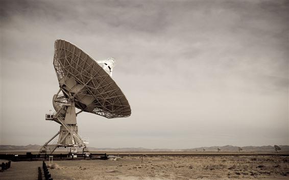 Wallpaper Radio telescope, sky