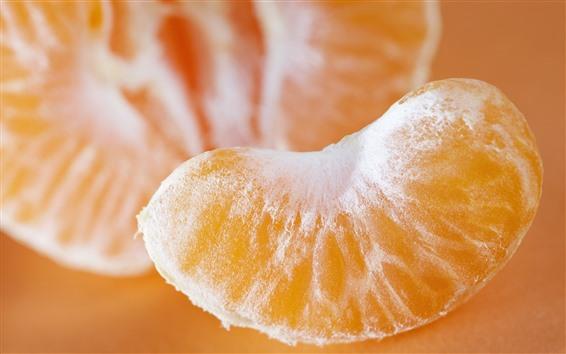 Wallpaper Tangerine slice, fruit