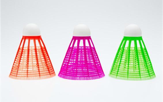 Fond d'écran Badminton trois couleurs