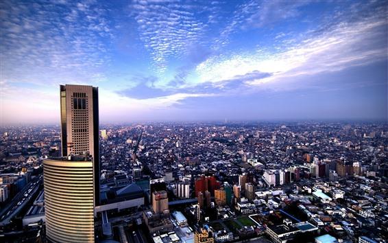 Wallpaper Tokyo, city, skyscrapers, top view, Japan