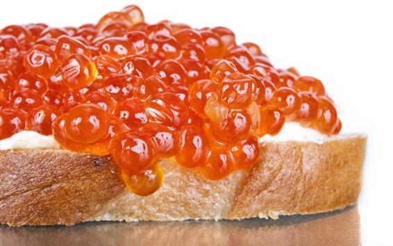 Fond d'écran Caviar, pain, nourriture
