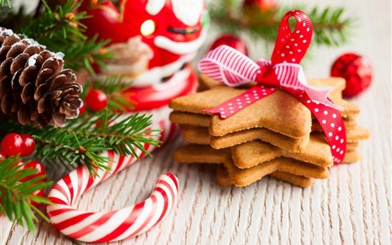 Обои Печенье, конфеты, ягоды, Рождество