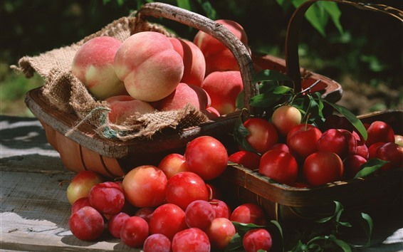 Wallpaper Fresh fruit, plums, peaches