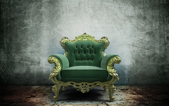 Wallpaper Green sofa, still life