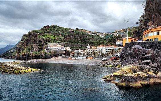 Fondos de pantalla Portugal, mar, montaña, casas, costa