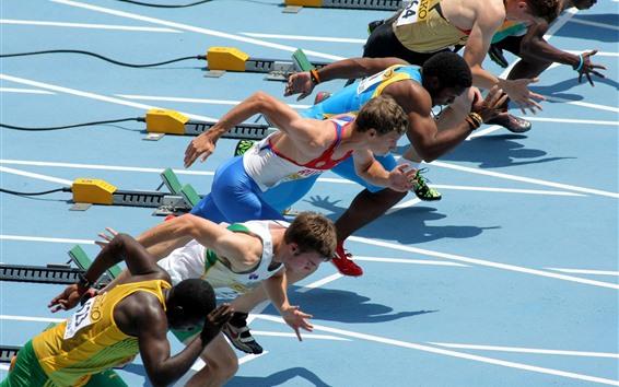 Обои Бегуны, спорт, гонки