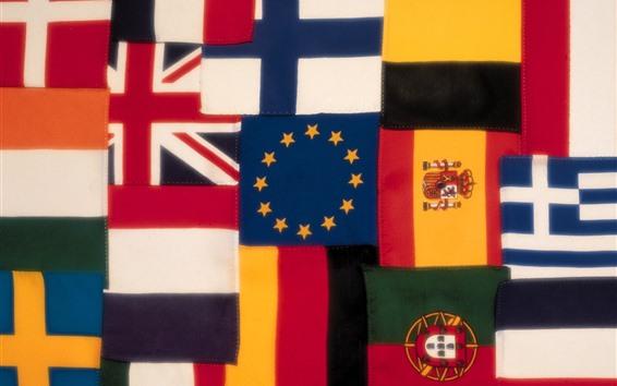 壁紙 いくつかの旗、カラフル