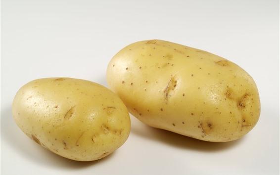 Wallpaper Two potatoes, vegetable