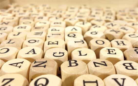 Обои Кубики из дерева, буквы